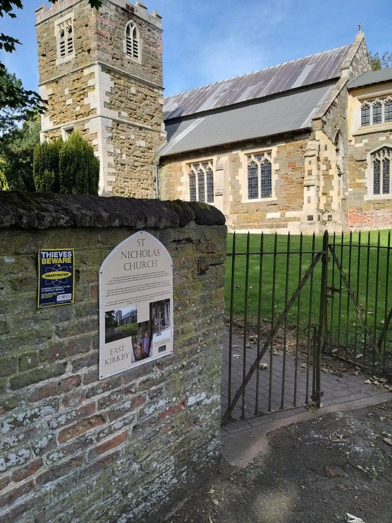 East Kirkby Church sign